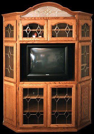 Stained Glass and Leaded Glass Cabinets
